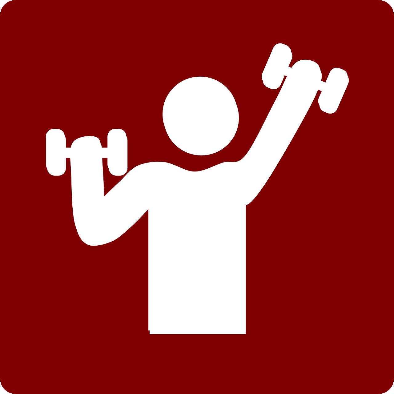 Weight lifting logo