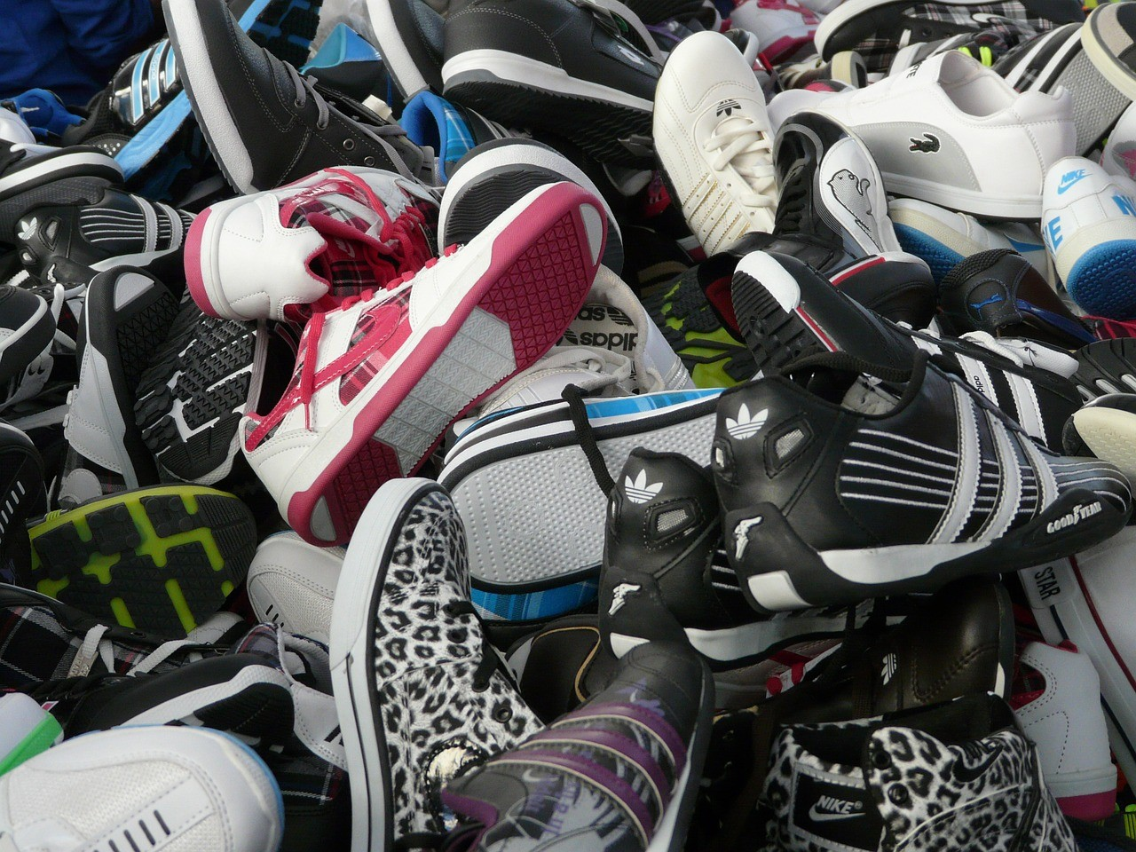A lot of sneakers
