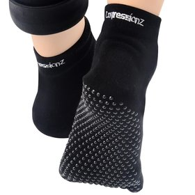 1. CompressionZ Yoga Socks Non Slip full Toe – Women & Men Pilates, Barre, Strong Grip