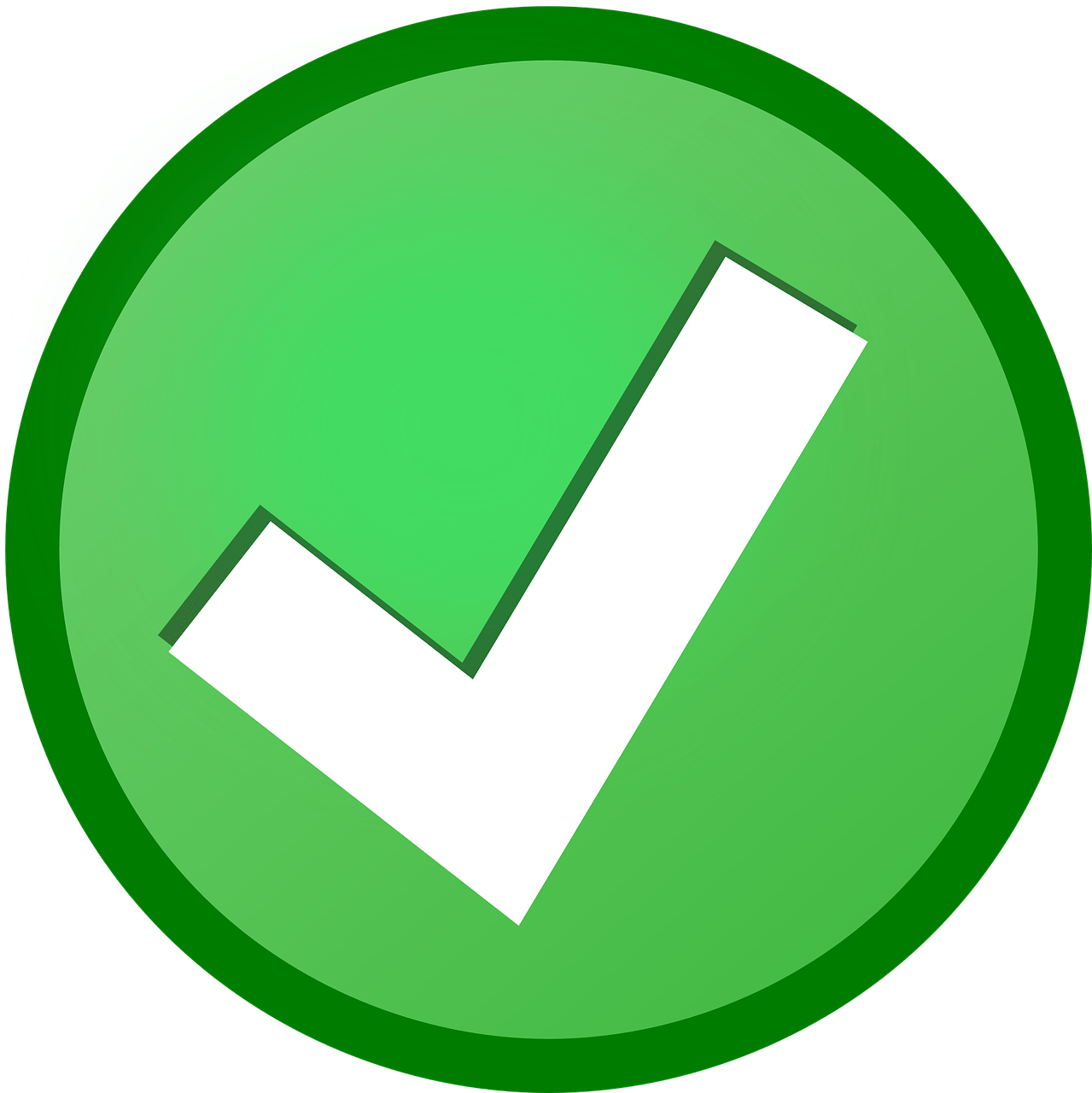 "Green ""check"" icon"