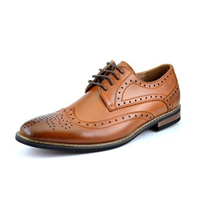 10. Bruno Homme Moda Italy Prince Men's Classic Modern Wingtip Lace Dress Shoe