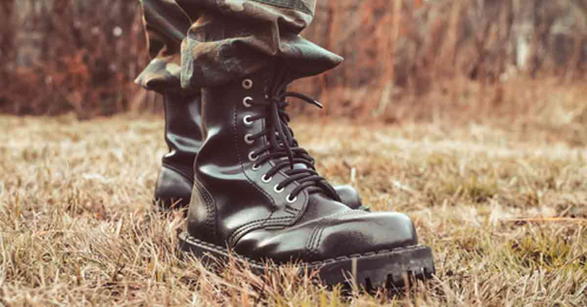 Best-Combat-Boots-pair of rugged black boots