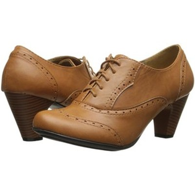 6. Refresh BH50 Women Leatherette Lace Up Chunky Heel Bootie
