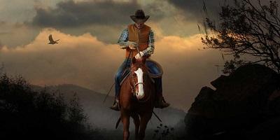 Best Cowboy Boots-Cowboy riding horse