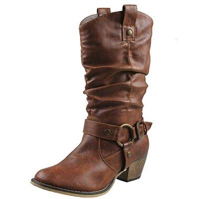 4. Refresh Women Wild-02 Western Style Cowboy Boots