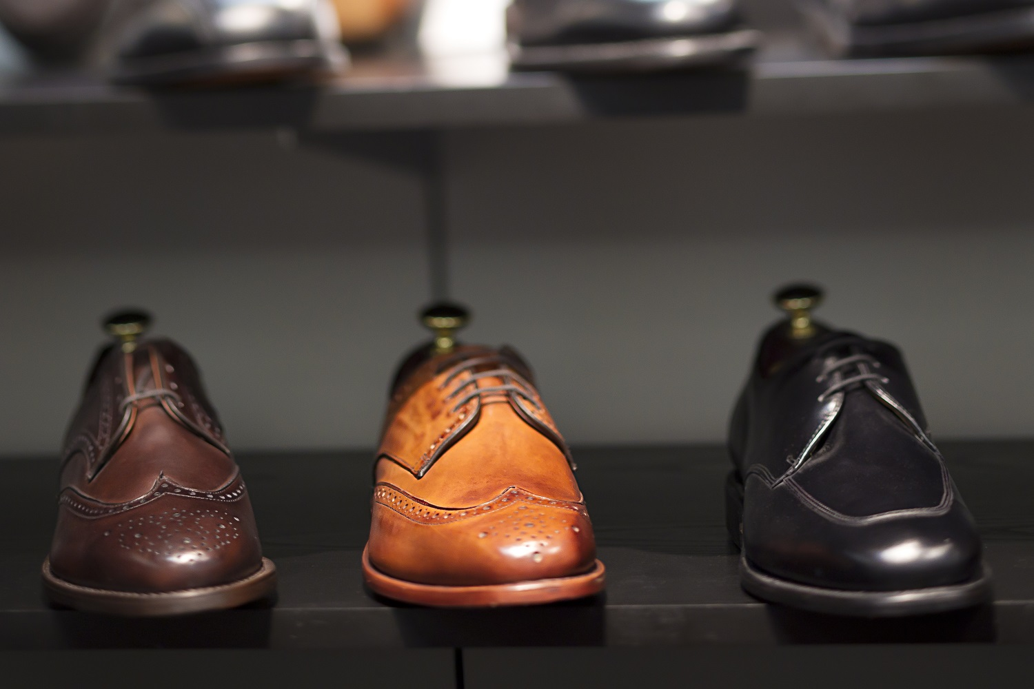 best dress shoes-Shoes on display