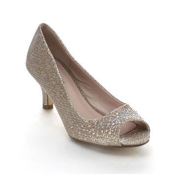 2. Bonnibel Wonda-2 Women's Peep Toe Low Heel Glitter Slip On Dress Pumps