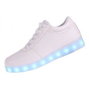 2. 7 Colors LED Luminous Unisex Men & Women Sneakers USB Charging Light Colorful Glowing Leisure Flat Shoes