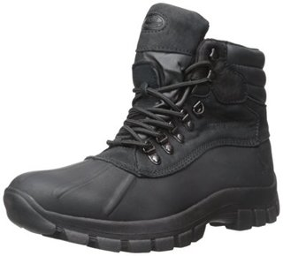3. Kingshow –Men's Warm Waterproof Winter Black Leather High Height Snow Boot