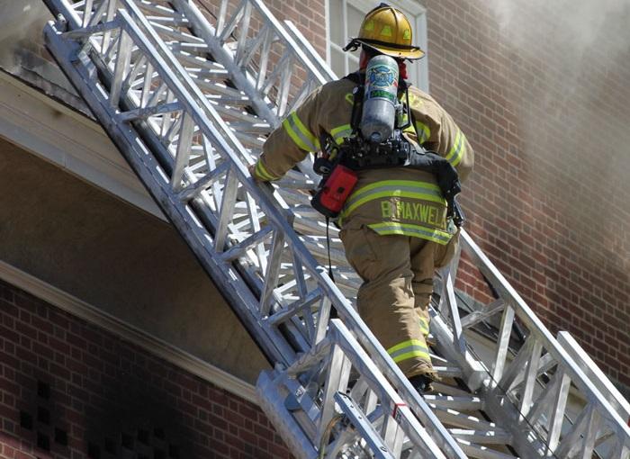 best firefighter boots- climbing ladder