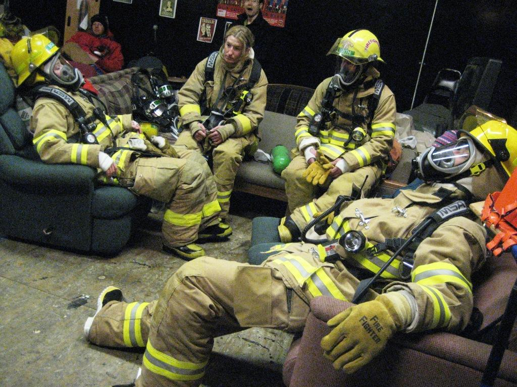 best firefighter boots- tired firefighters