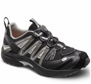 8. Dr. Comfort Men's Performance X Black Grey Diabetic Athletic Shoes