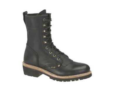 6. Adtec Men's 10'' Fireman Logger Boots Oil & Heat Resistant