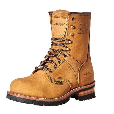 6. AdTec Men's 9-Inch Steel-Toe Logger Boot