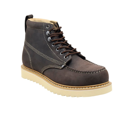4. Golden Fox Men's Premium Leather Soft Toe Light Weight Industrial Boot