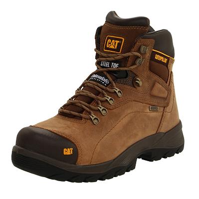 1. Caterpillar Men's Diagnostic Waterproof Steel-Toe Work Boot