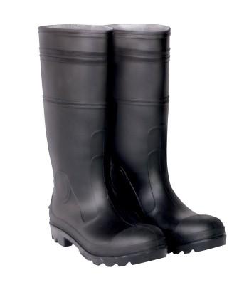4. CLC R23011 Over The Sock Black PVC Men's Rain Boot, Size 11