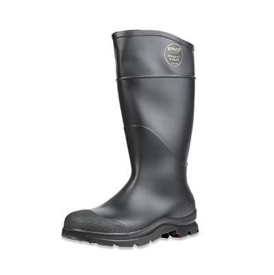 3. Servus Comfort Technology 14″ PVC Steel Toe Men's Work Boots, Black (18821)