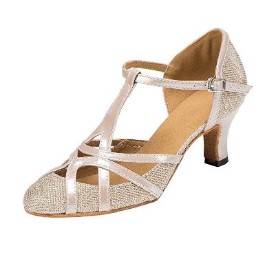 1. TDA Women's Mid Heel PU Leather Salsa Tango Ballroom Latin Party Dance Shoes