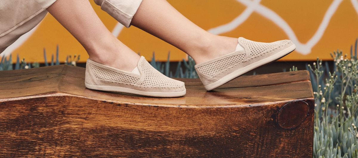 best moccasins-woman wearing moccasin slippers