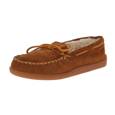 1. Minnetonka Men's Pile Lined Hardsole Slipper