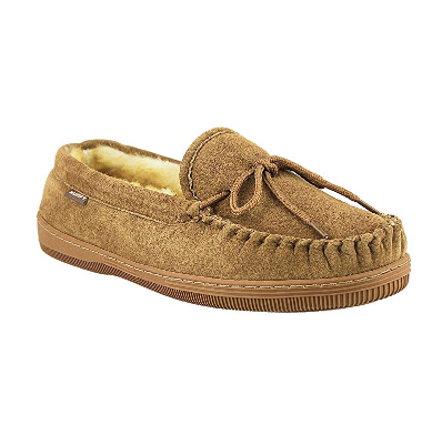 5. Men's Suede Classic Moccasin Slippers