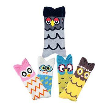 8. Deer Mum Child Owl Knee High Socks