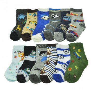 4. Kids Assorted Designs Crew Socks