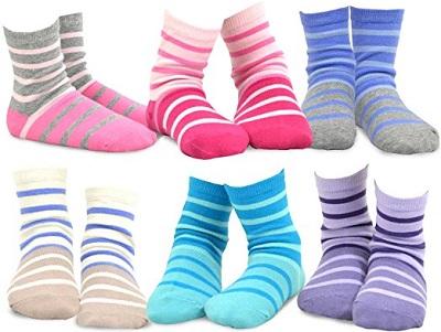 6. TeeHee Stripes Cotton Short Crew
