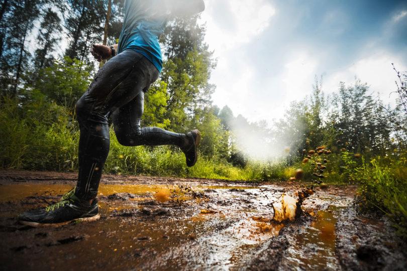 best running shoes -trail-running-through-mud