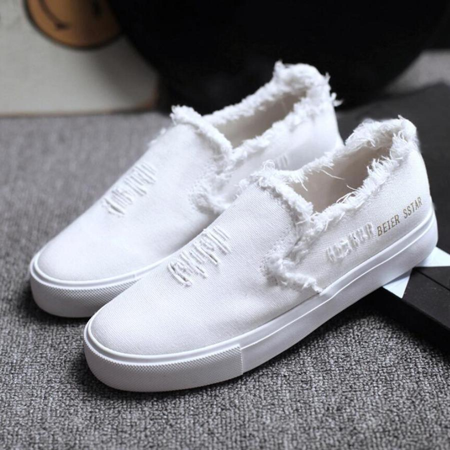 Canvas White High Shoes