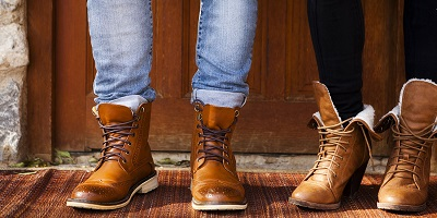 Best Leather Boots-man and woman in brown boots