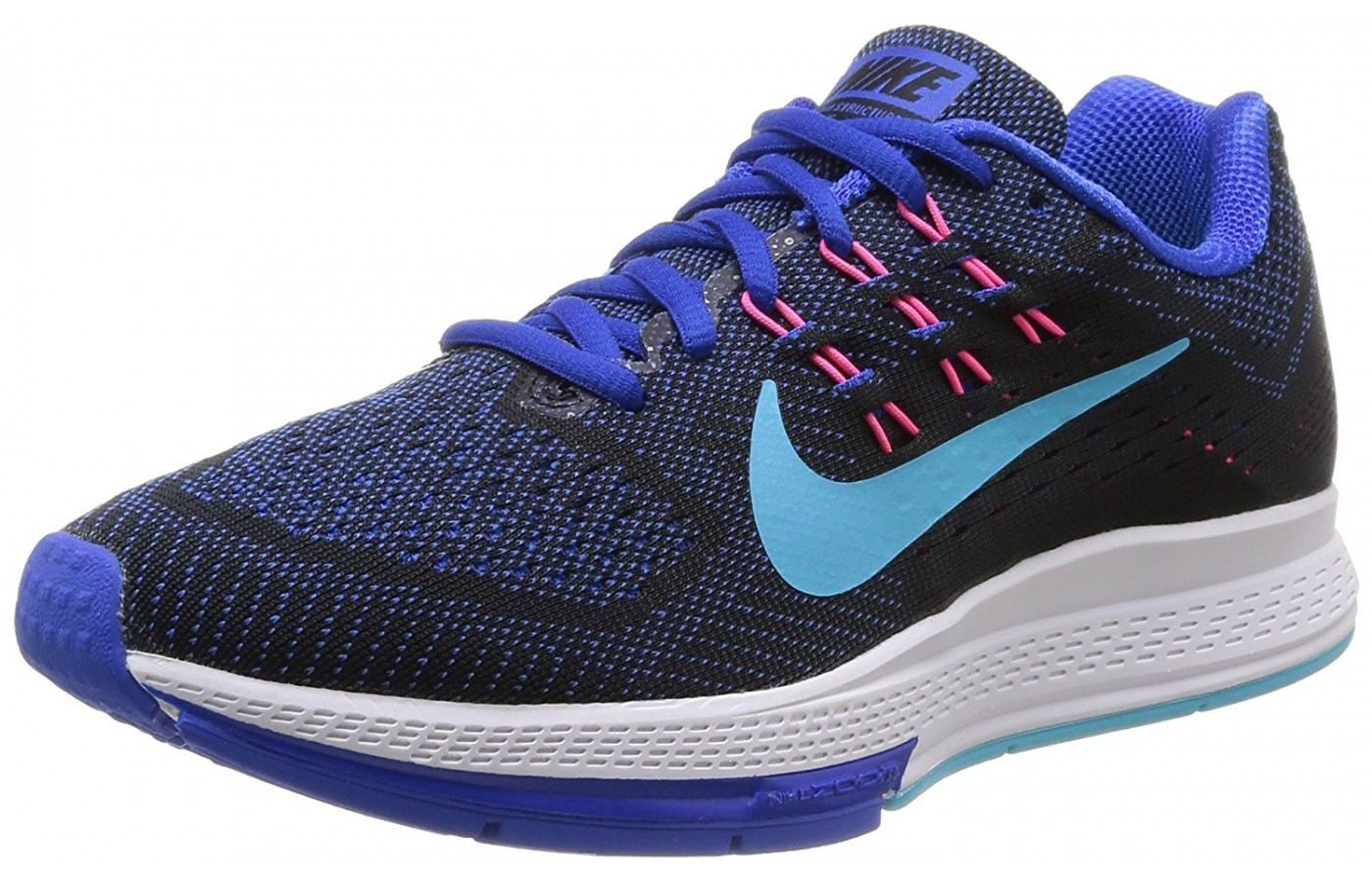 the best attitude 12407 56950 A three quarter view of the Nike Air Zoom Structure running shoe .