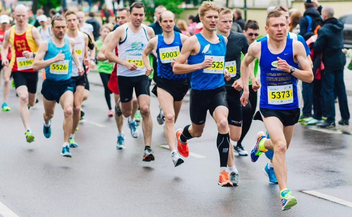 Runners in athletic socks