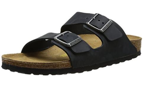 Ever-trendy Birkenstock Arizona sandal for walking with contoured cork footbed