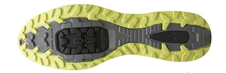 bottom of mountain bike shoe