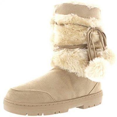 1. Holly Pom Pom Snow Boots