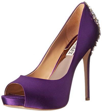 Badgley Mischka Kiara purple shoes