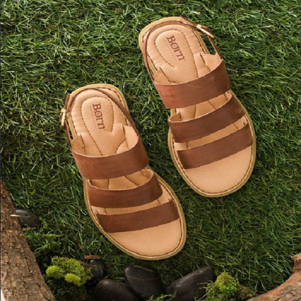 Brown-Born-Shoes-On-Grass