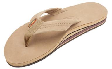 1. Rainbow Sandals Double Layer