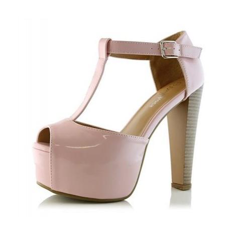 8. DailyShoes Peep Toe Platform
