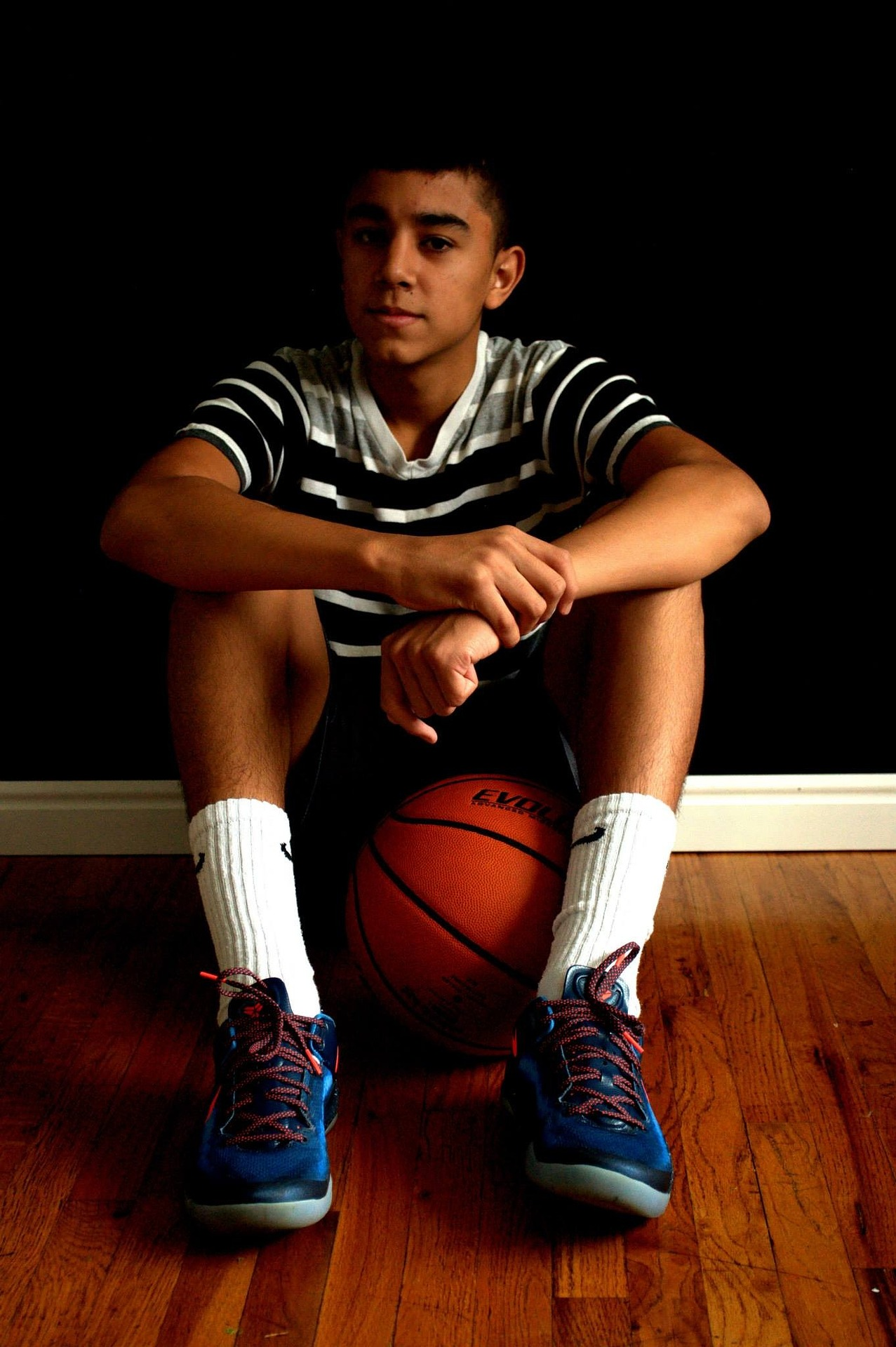 Black teen basketball players