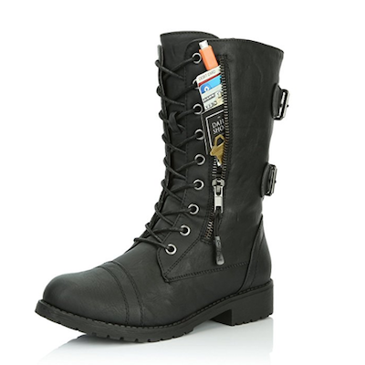 Military Combat Lace-Up Boots