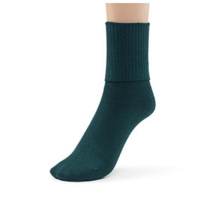 Silky Toes Turn Cuff socks