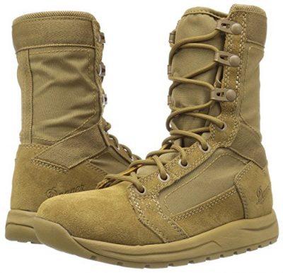 Danner Tachyon light brown & tan boots side view