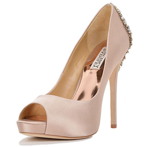 badgley mischka kiara champagne heels