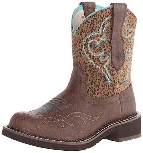 Ariat Fatbaby leopard print shoes