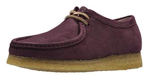Clarks Wallabee purple shoes