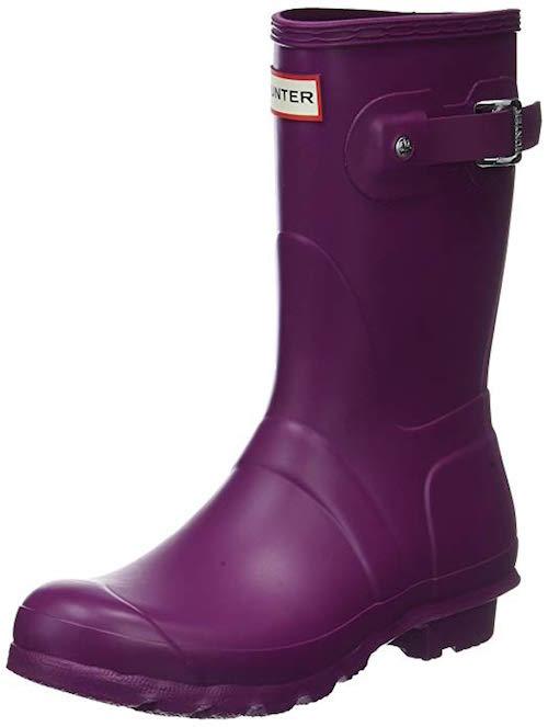 Hunter Original Short purple shoes