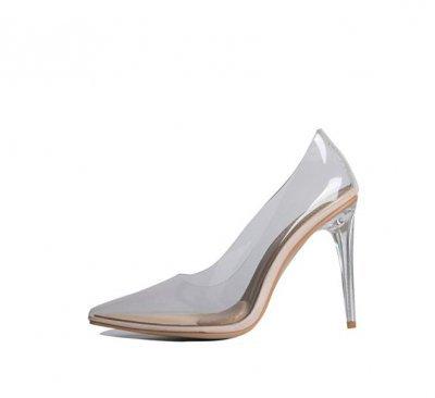 Akira Azalea Wang plastic shoes